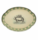 Casafina Pigs Oval Tole Scalloped Tray