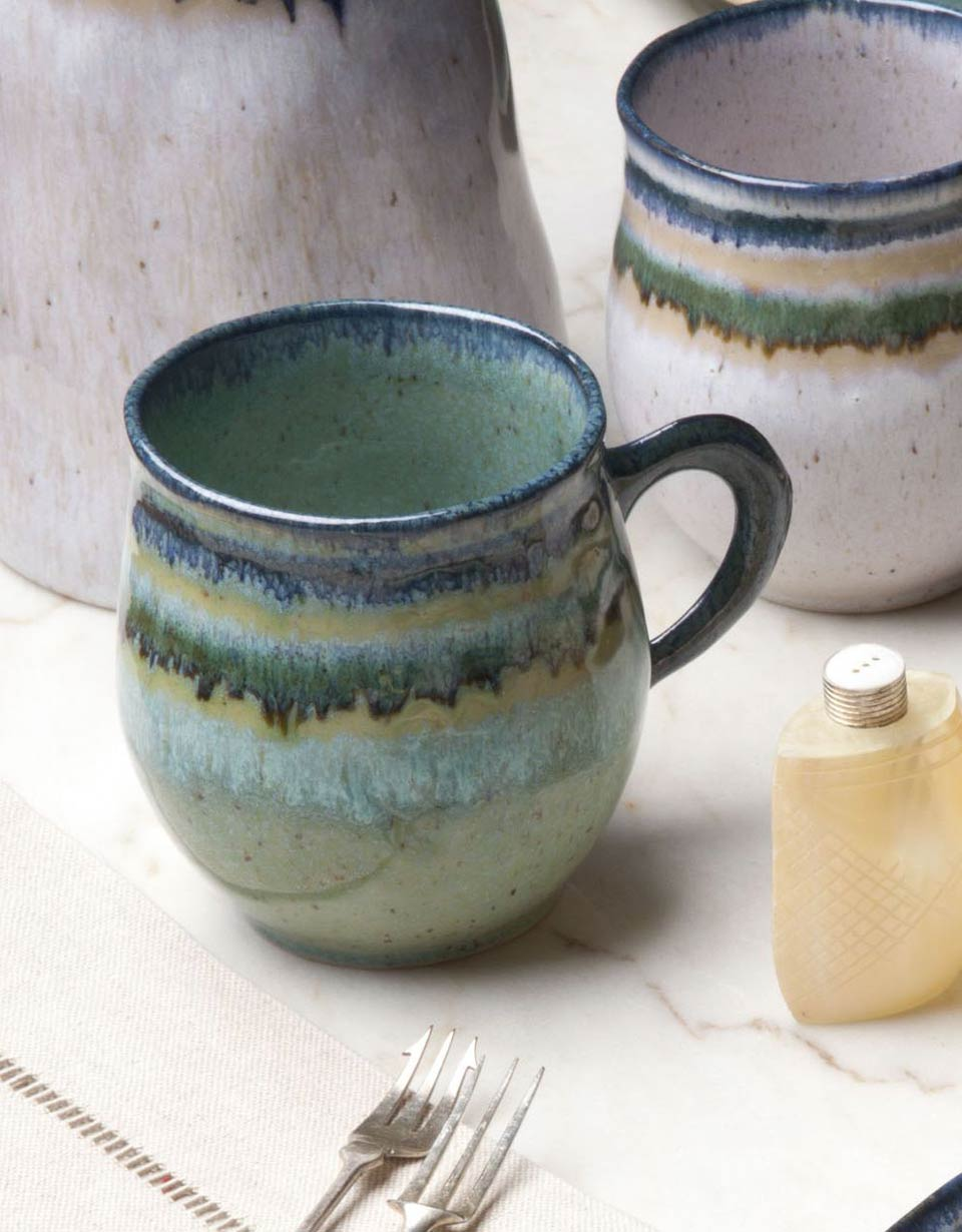 & Casafina Sausalito Green Coffee Mug