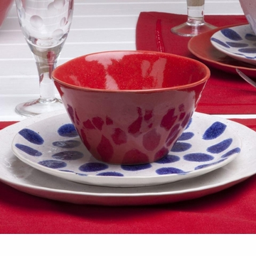Casafina Spot On Blue Spots Salad Plate