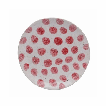 Casafina Spot On Red Spots Salad Plate