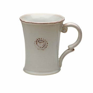 Casafina Villa Royale White Coffee Mug