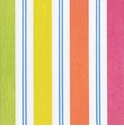 Caspari Awning Stripe Brights Napkin Cocktail