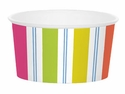 Caspari Awning Stripe Brights Treat Cups 9.5 Ounces (280 Ml)