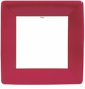 Caspari Grosgrain Border Red Square Dinner Plates