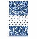 Caspari Jacquard Linen Blue & White-Paper Guest Towels 12 In