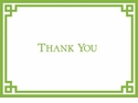 Caspari Rive Gauche Green & White Thank You Notes Boxed