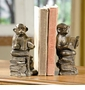 Cast Iron Reading Monkey Bookends by SPI Home