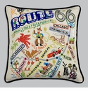 Cat Studio Embroidered Pillow - Route 66