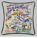 Cat Studio Embroidered State Pillow - Alabama