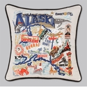 Cat Studio Embroidered State Pillow - Alaska