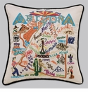 Cat Studio Embroidered State Pillow - Arizona