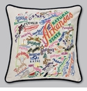Cat Studio Embroidered State Pillow - Arkansas