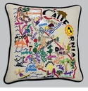Cat Studio Embroidered State Pillow - California