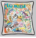 Cat Studio Embroidered State Pillow - Florida