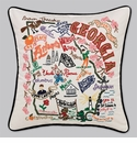 Cat Studio Embroidered State Pillow - Georgia