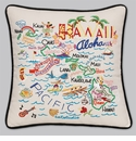 Cat Studio Embroidered State Pillow - Hawaii