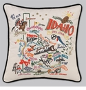 Cat Studio Embroidered State Pillow - Idaho