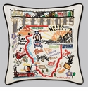 Cat Studio Embroidered State Pillow - Illinios