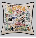Cat Studio Embroidered State Pillow - Iowa
