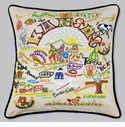Cat Studio Embroidered State Pillow - Kansas
