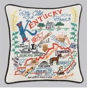 Cat Studio Embroidered State Pillow - Kentucky