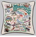 Cat Studio Embroidered State Pillow - Minnesota