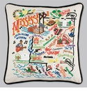Cat Studio Embroidered State Pillow - Mississippi