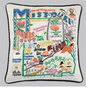 Cat Studio Embroidered State Pillow - Missouri