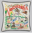 Cat Studio Embroidered State Pillow - Nebraska