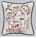 Cat Studio Embroidered State Pillow - Nevada