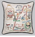 Cat Studio Embroidered State Pillow - New Hampshire