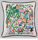 Cat Studio Embroidered State Pillow - New Jersey