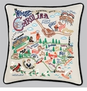 Cat Studio Embroidered State Pillow - North Carolina