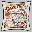 Cat Studio Embroidered State Pillow - North Dakota
