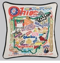 Cat Studio Embroidered State Pillow - Ohio