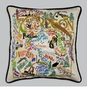 Cat Studio Embroidered State Pillow - Oregon