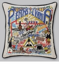 Cat Studio Embroidered State Pillow - Pennsylvania