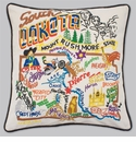 Cat Studio Embroidered State Pillow - South Dakota
