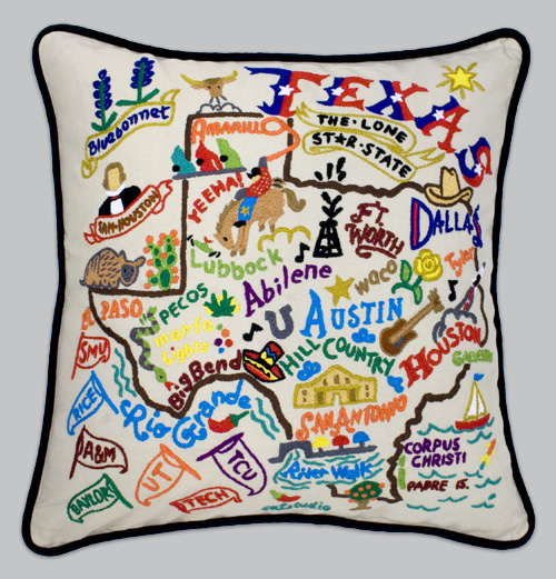 cat state ohio embroidered pillow studio pillows