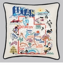 Cat Studio Embroidered State Pillow - Utah