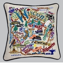 Cat Studio Embroidered State Pillow - Wisconsin