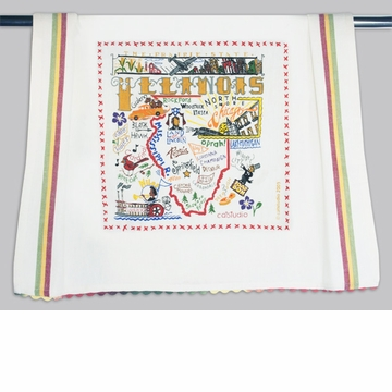 Cat Studio State Dish Towel - Illinois
