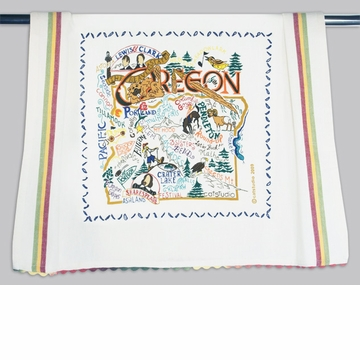 Cat Studio State Dish Towel - Oregon