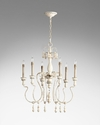 Chantal 6 Light French Chandelier by Cyan Design
