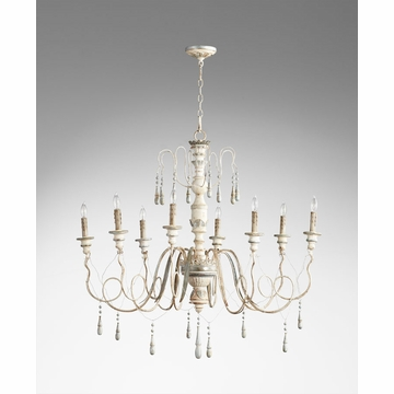 Chantal 8 Light French Chandelier by Cyan Design