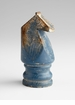 Chess Piece Blue Knight Wood Sculpture by Cyan Design