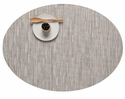 Chilewich Bamboo Oval Placemat 14X19.25 Chalk