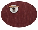 Chilewich Bamboo Oval Placemat 14X19.25 Cranberry