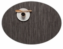 Chilewich Bamboo Oval Placemat 14X19.25 Grey Flannel