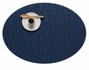 Chilewich Bamboo Oval Placemat 14X19.25 Lapis